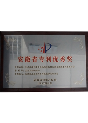Anhui patent Excellence Award